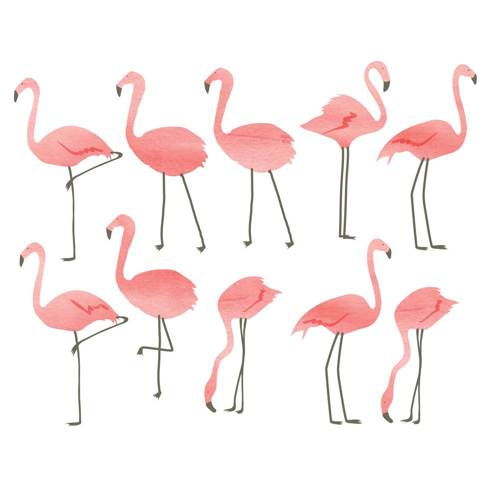 Flamingo stickers at bobo kids